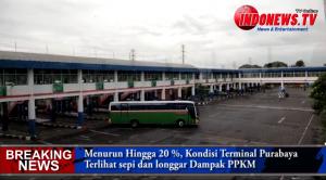 , Dampak PPKM, Penumpang Terminal Purabaya Menurun Hingga 20%, Terlihat Sepi Dan Longgar,