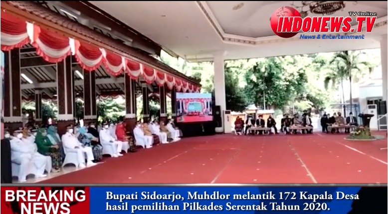 , Bupati Sidoarjo, Muhdlor Melantik 172 Kepala Desa Hasil Pemilihan Pilkades Serentak Tahun 2020,