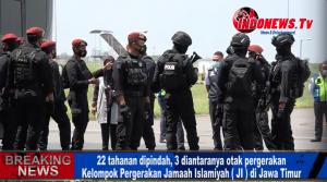 , 22 Tahanan Terduga Teroris Yang Menghuni Rutan Mapolda Jatim Akhirnya Dipindah Ke Mabes Polri,