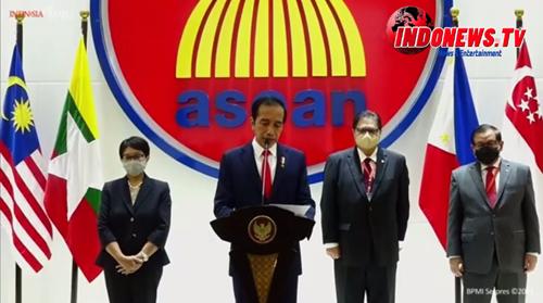 , Pertemuan ASEAN Leaders' Meeting, Jokowi Sorot Krisis Politik Myanmar,