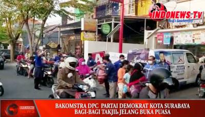 , Bakomstra Partai Demokrat DPC Surabya, berbagi kebahagiaan takjil Ramadhan,