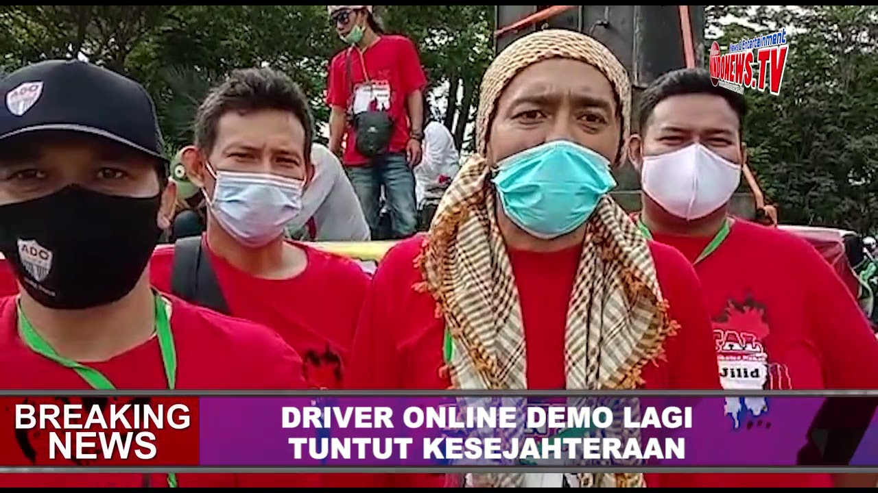 , Driver Online Demo Lagi, Tuntut Kesejahteraan,